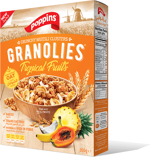 Poppins® GRANOLIES Tropical Fruits